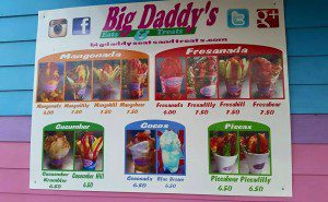 big daddys menu
