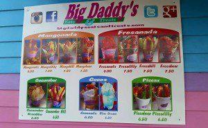 big daddys menu