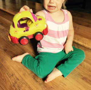 I could not meet her needs.  I could not put her into tiny toy car.  Bad, mommy, bad.