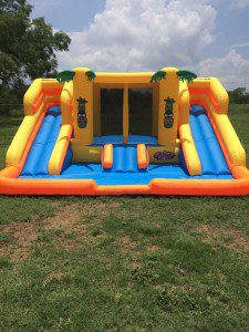 This is a picture of the actual slide my parents purchased for my son.  I can't win.