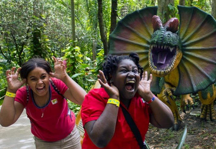 This photo is from the Dinosaur World Texas website.