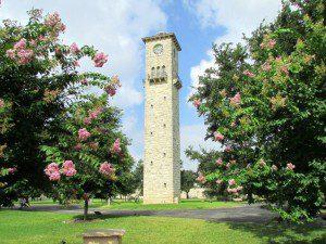 Clock tower in the Quadrangle at Fort Sam Houston | Alamo City Moms Blog
