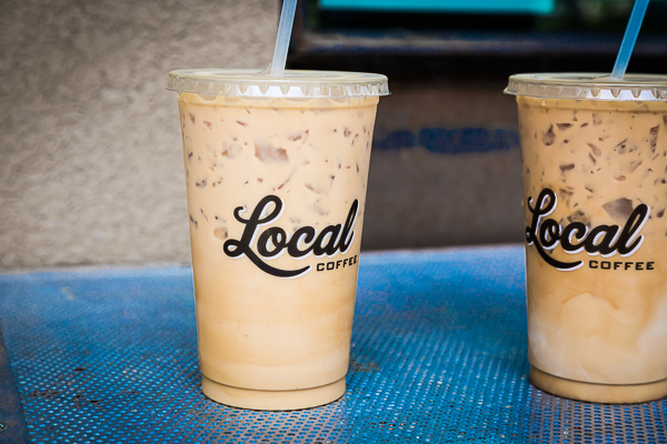 Matching iced lattes for me and my man ! Adorbs, right?