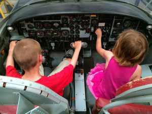 Training cockpit at the Texas Air Museum at Stinson Field | Alamo City Moms Blog