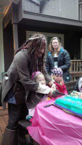 We loved Captain Jack so much we invited him to Sadie's birthday party.