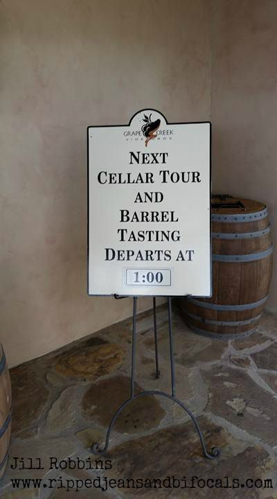 Barrel Tasting at Grape Creek