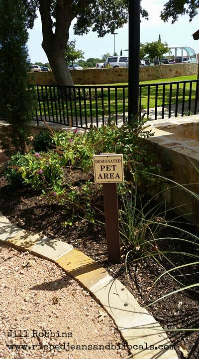 Designated Pet area