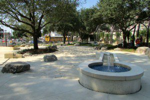 Sand pit at Yanaguana Garden in Hemisfair | Alamo City Moms Blog