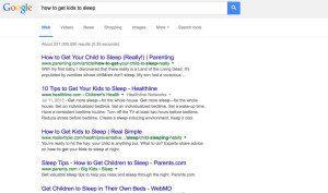 google search sleep