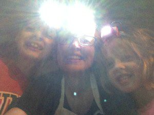Wearing headlamps to play outside in the dark | Alamo City Moms Blog