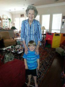 My grandma and my Little last year. A memory he and I will always share.