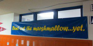Free brain booster: Learn to not eat the marshmallow . . . yet! (poster at KIPP San Antonio) | Alamo City Moms Blog