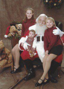 santa and baby caleb 2