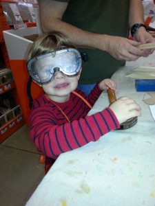 Have fun and make sure to get a picture of your Little in their protective goggles!