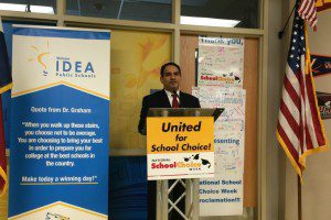 IDEA Public Schools Executive Director for San Antonio Rolando Posada at School Choice Week proclamation | Alamo City Moms Blog