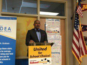 District 2 City Councilman Alan E. Warrick II at School Choice Week proclamation at IDEA Walzem | Alamo City Moms Blog