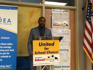IDEA Walzem Academy Principal Evan Yates at School Choice Week proclamation | Alamo City Moms Blog