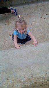 Sadie, then 3, doing pushups at Hardberger Park.