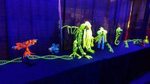 Glow in the dark Lego display at BrickFest Live.