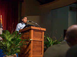 Abcde Martinez, 9th grade student at IDEA Carver, at IDEA Public Schools San Antonio 2016 Annual Luncheon | Alamo City Moms Blog