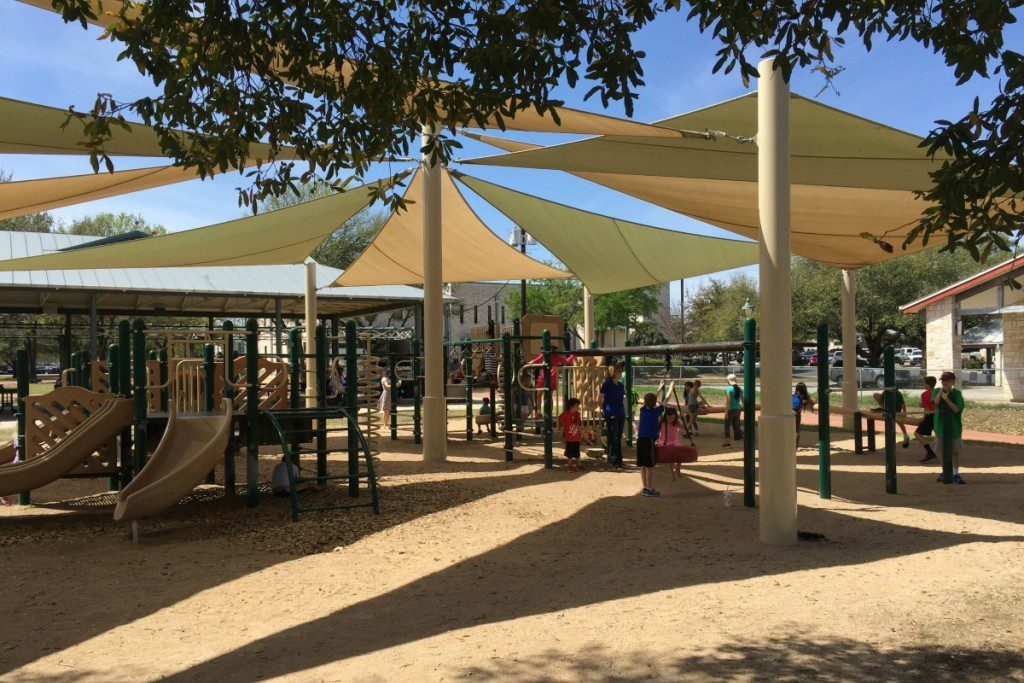 Playground at the Marktplatz in Fredericksburg, Texas | Alamo City Moms Blog