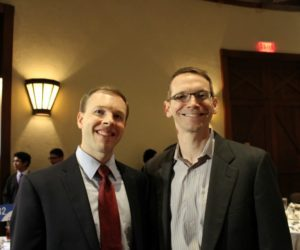 San Antonio ISD District 1 Trustee Steve Lechelop and Commissioner of Education Mike Morath at the San Antonio Regional Public PK-12 Education Forum on April 21, 2016 at the Pearl Stable | Alamo City Moms Blog