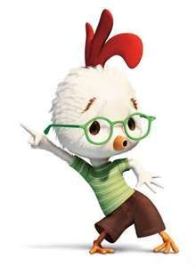 Not the chicken dance, but a chicken dancing. I promise, it's a cute movie.