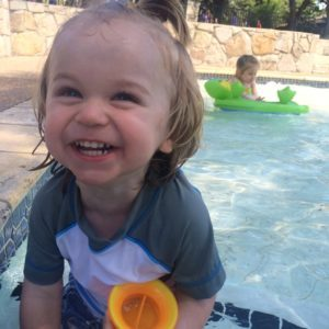 I'm glad somebody enjoys our trips to the pool!
