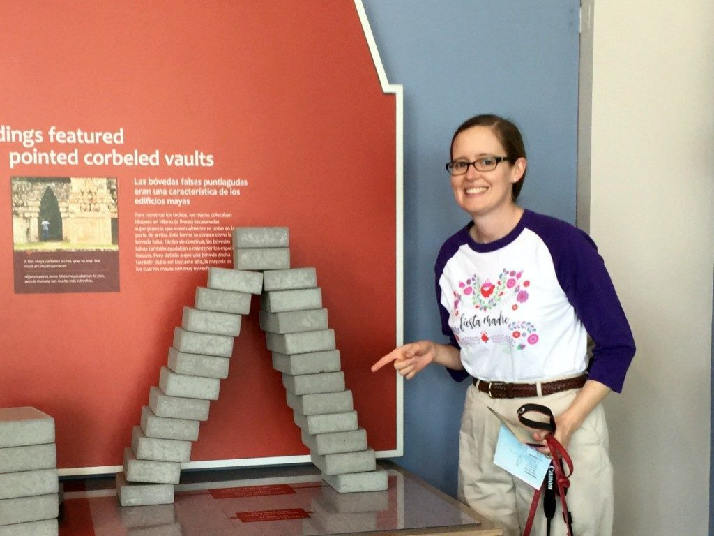 Inga Cotton built a corbeled vault at Maya: Hidden Worlds Revealed at the Witte Museum | Alamo City Moms Blog