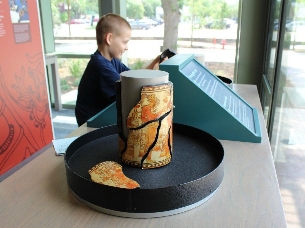 Piece together a vase - Maya: Hidden Worlds Revealed at the Witte Museum | Alamo City Moms Blog