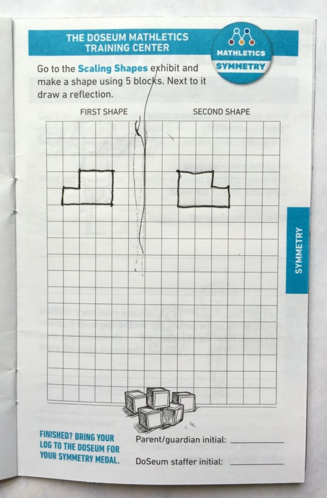 Symmetry in the challenge log for Mathletics at the DoSeum | Alamo City Moms Blog