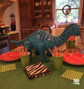 Dinosaurs: always a solid theme for a toddler party!