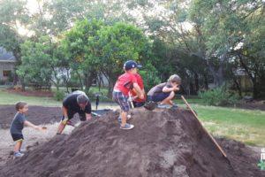 boys on pile