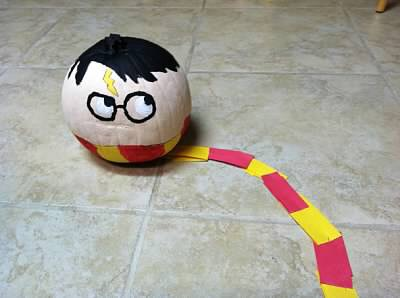 A Potter Pumpkin (proudly painted by my girl in 2012)