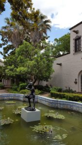 The interior courtyard of the McNay features terrific landscaping, sculptures and fish. It's fun to sit back and think about what it must have been like to actually live there when it was a family home.