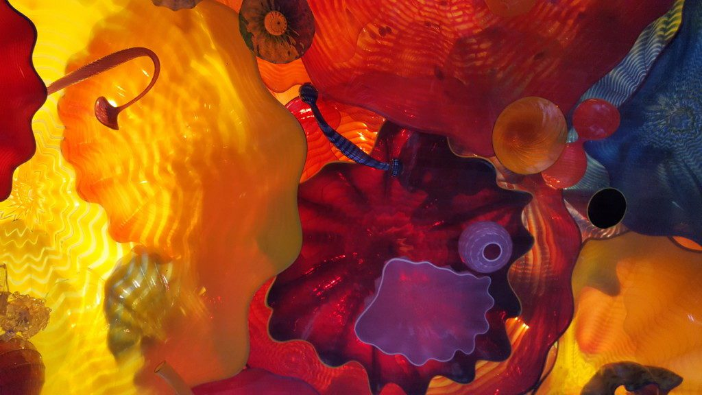 One of our favorite pieces in San Antonio: a glass ceiling designed by American artist Dale Chihuly.