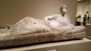 I had to explain that no, this woman is not encased in carbonite like Han Solo. So if you're wondering how to discuss ancient sculpture with your littles, don't be afraid to bring up Star Wars.
