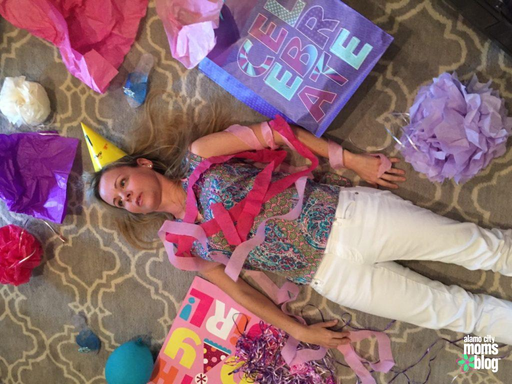 And this is you for the rest of the day...and possibly the next day too. TKO by toddler birthday party.