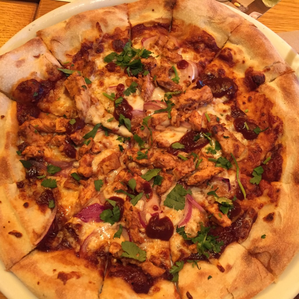Original BBQ chicken pizza