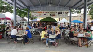 Music and fun at the farmers market.