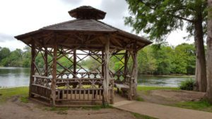 Right on the water's edge, the gazebo is a great place to explore.