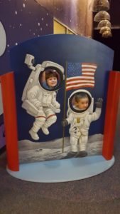Playing astronaut in Destination Space.