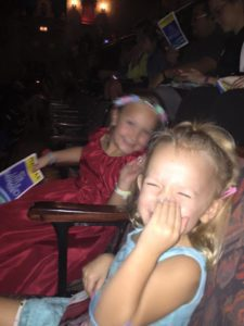 My girls about to enjoy The Little Mermaid