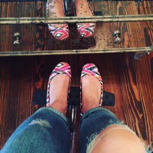 """Treating yourself can be as simple as actually wearing your """"cute"""" shoes. After all, they want to stroll on a city sidewalk!"""