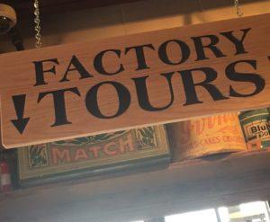 SAS Factory Tour Sign