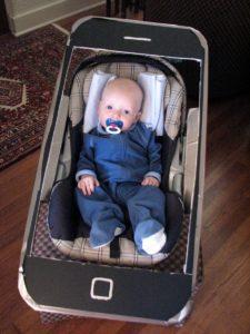 iPhone baby stroller Halloween costume