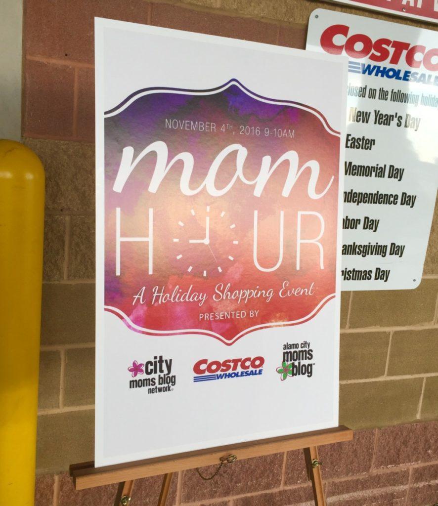 Costco Mom Hour sign