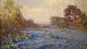 A gorgeous Texas landscape by Julian Onderdonk included in the SAMA collection.