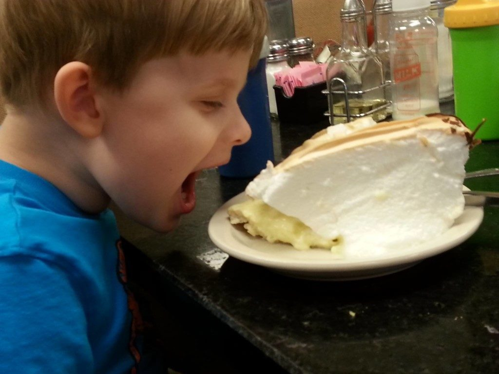 Eating pie at Bluebonnet Cafe in Marble Falls, Texas | Alamo City Moms Blog