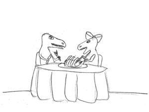 Dinosaur carnivore cartoon by Inga Cotton | Alamo City Moms Blog